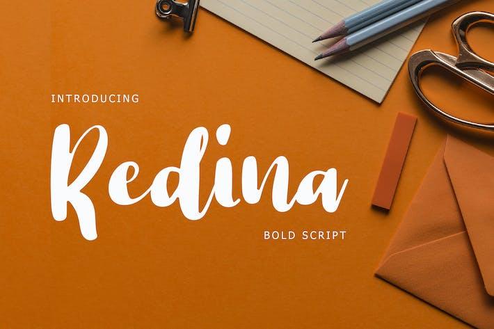 Thumbnail for Redina Bold Script Font