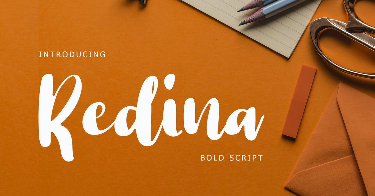 Download Redina Bold Script Font by giantdesign