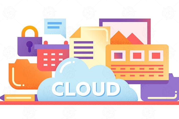 Thumbnail for Cloud Storage Technology - flat design website