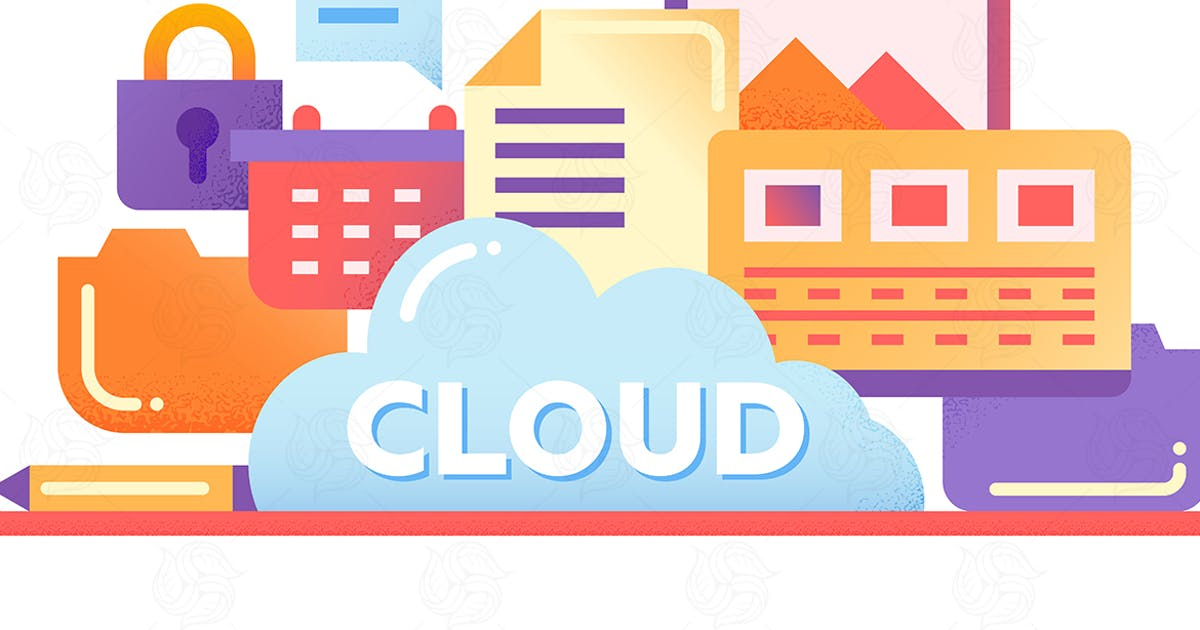 Download Cloud Storage Technology - flat design website by BoykoPictures
