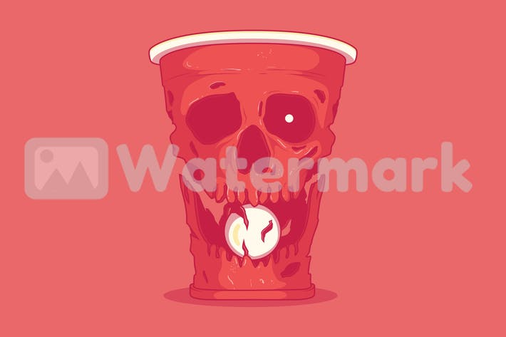 Thumbnail for Beer pong Skull
