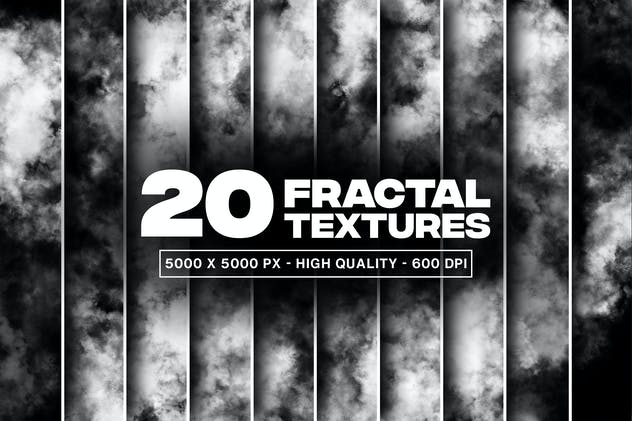 20 Fractal Textures and Overlays