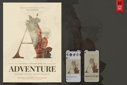 Letters Series: A - Artistic Graphic Template