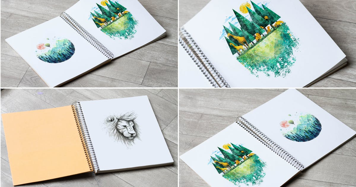 Download Sketch Book Mock Up by RetroBox