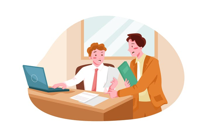 Business People Solving Issue Illustration