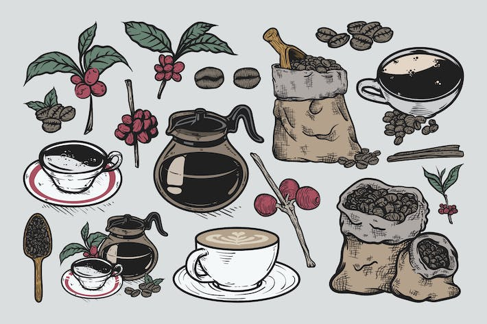 Thumbnail for Coffee Drawing Set