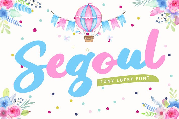 Thumbnail for Segoul | Lucky Funny Font