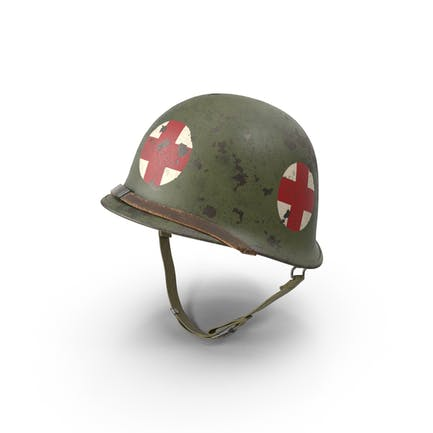 Medic M1 Helm mit rotem Kreuz (WWII)