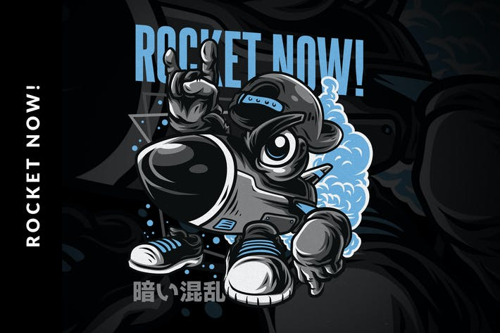 Thumbnail for Rocket Now! T-Shirt Design