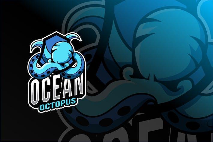 Thumbnail for Ocean Octopus Esport Logo Template