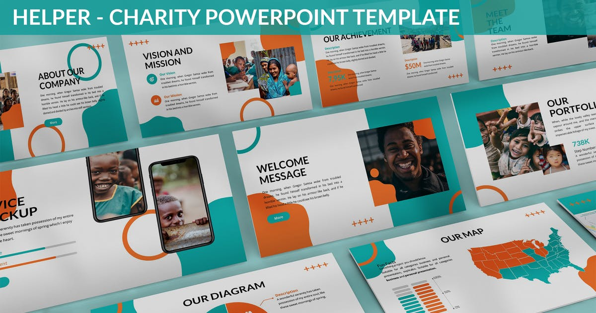 Download Helper - Charity Powerpoint Template by SlideFactory