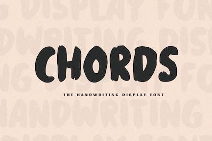 Chords - The Handwriting Display Font