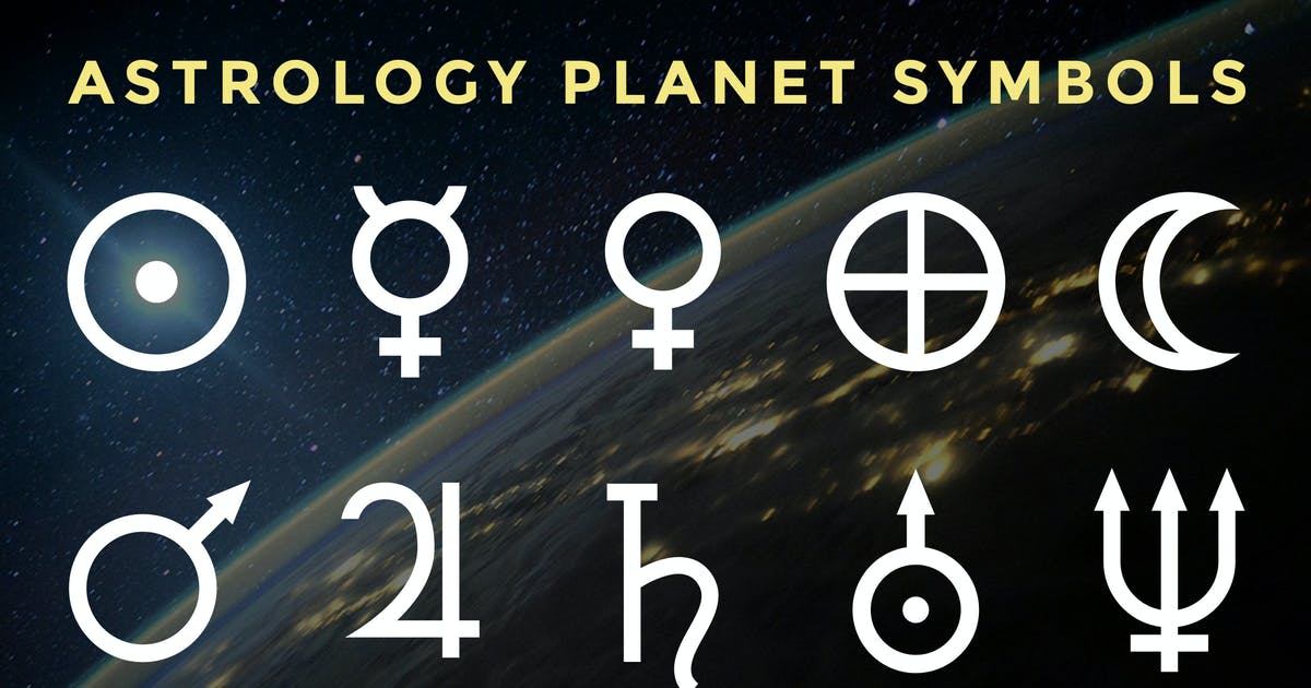 Astrology Planet Symbols by adrianpelletier