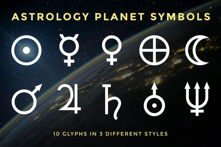 Astrology Planet Symbols By Adrianpelletier On Envato Elements