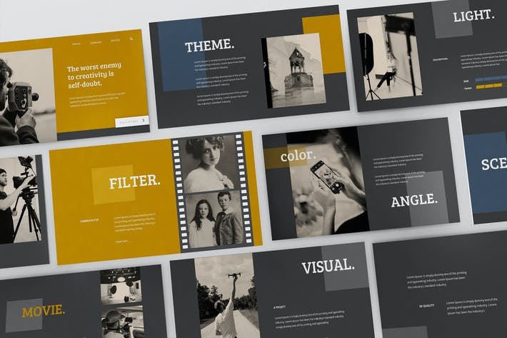 Visual Classic Powerpoint Presentation Template