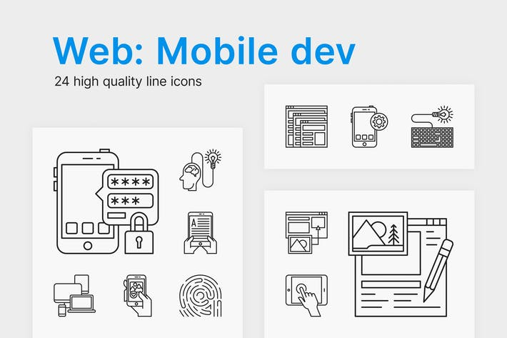 Thumbnail for Web/Mobile Dev Icons