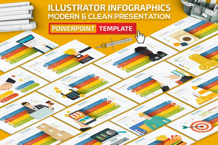Thumbnail for Illustrator Infographics Powerpoint Presentation