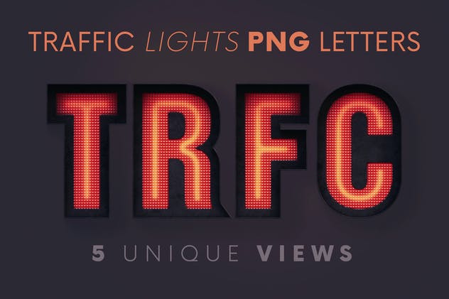 Traffic Lights - 3D Lettering