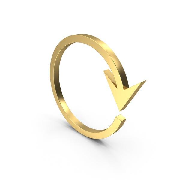 Golden Circular Arrow