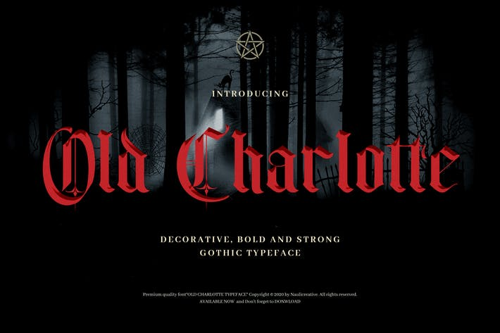 Cover Image For Old Charlotte - Bold Decorative Gothic Font
