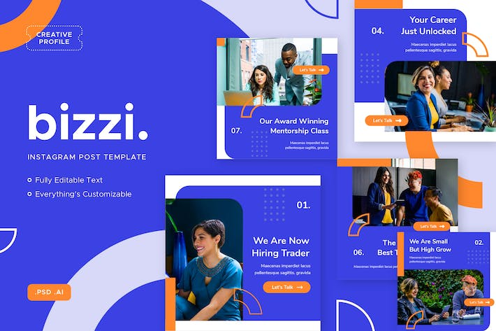 Cover Image For Bizzi - Instagram Post - Social Media Kit