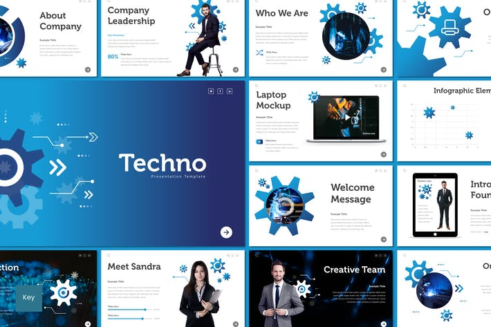 Cover Image For Techno - Keynote Template