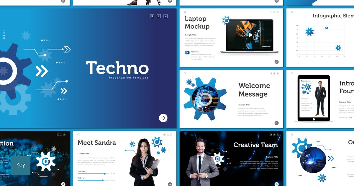 Download Techno - Keynote Template by inspirasign