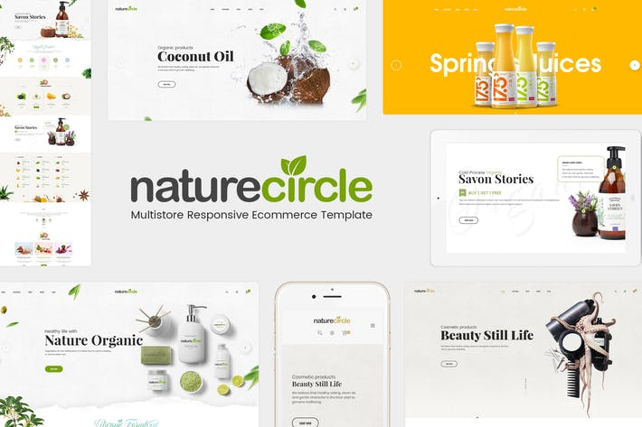 Thumbnail for NatureCircle - Organic Responsive Magento Theme