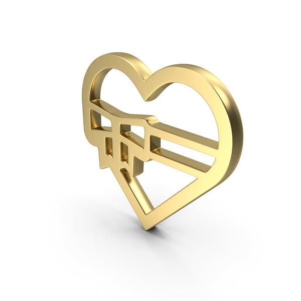 Сердце Любовь Подарочный Логотип Икона