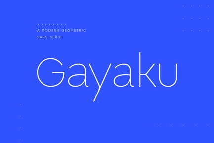 Gayaku - Modern Sans Serif Font