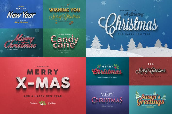 Thumbnail for Christmas Text Effects Vol.1