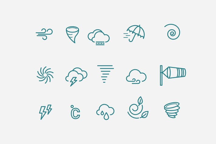 Thumbnail for 15 Wind Storm Icons