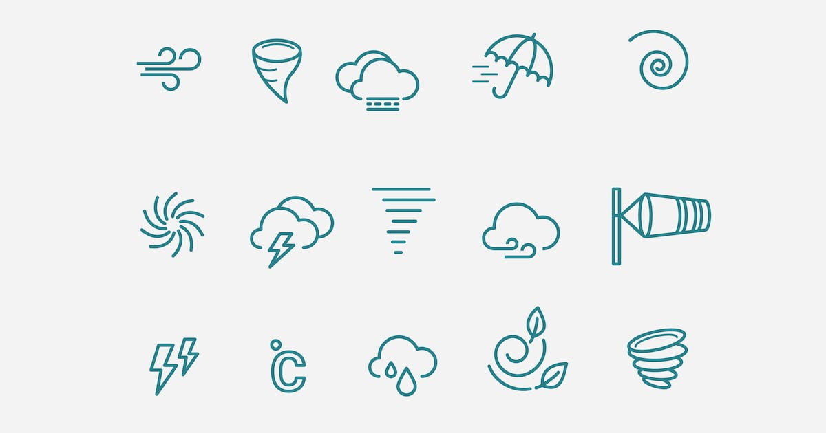 15 Wind Storm Icons by creativevip