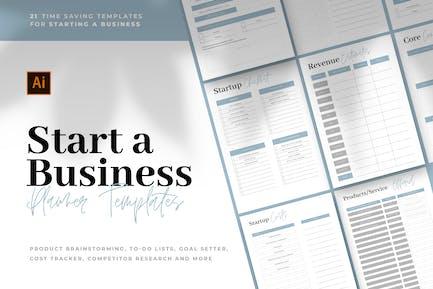 Start A Business - Planner Templates