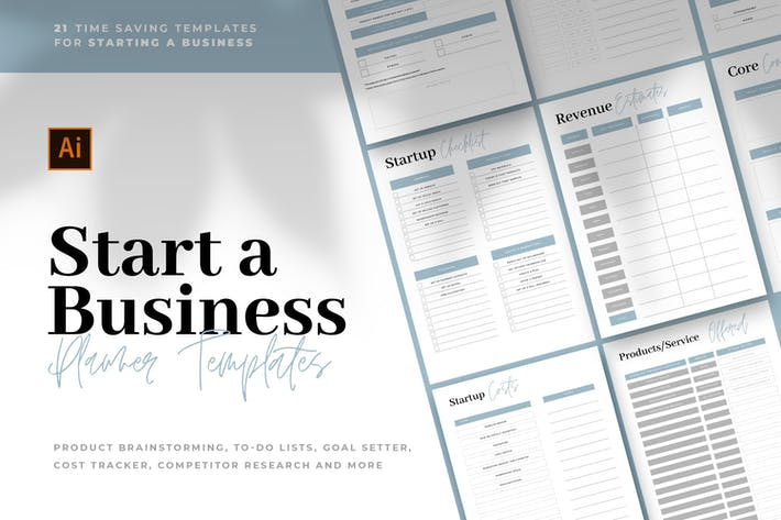 Thumbnail for Start A Business - Planner Templates