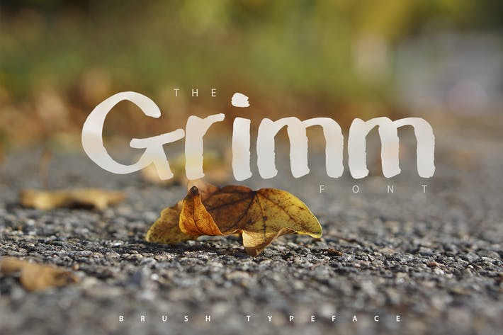 Thumbnail for The Grimm Brush Typeface