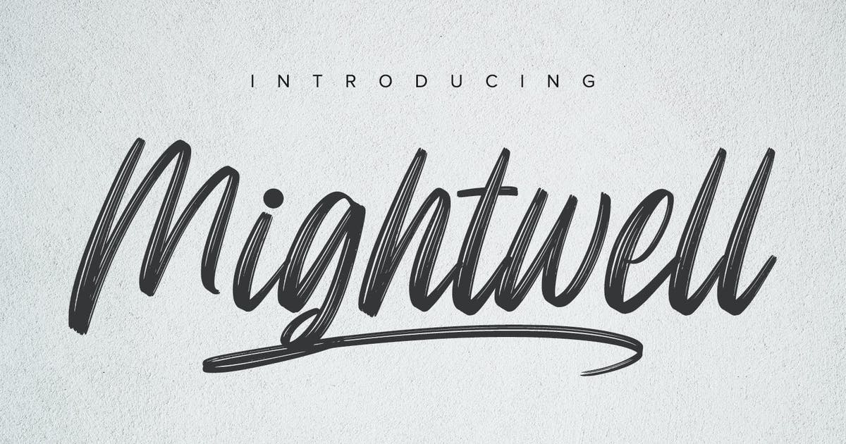 Download Mightwell - Brush Font by YumnaStudio