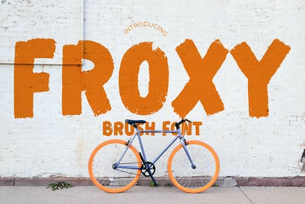 Froxy Sporty Advertisement Font