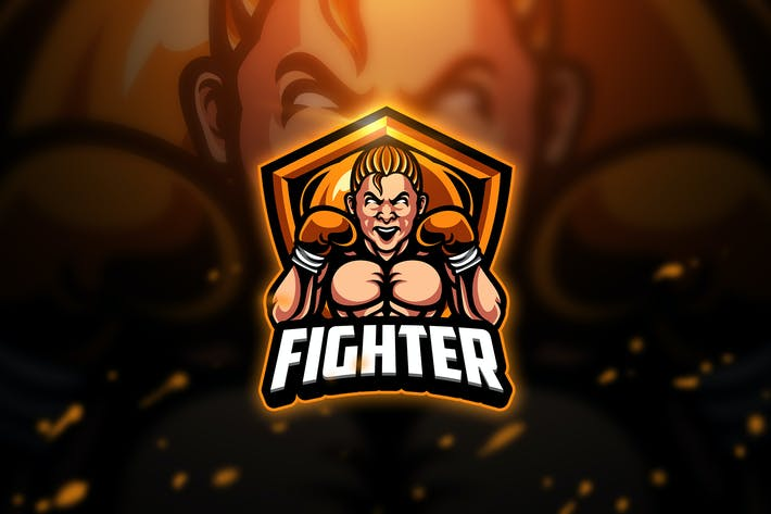 Thumbnail for Fighter - Mascot & Esport Logo