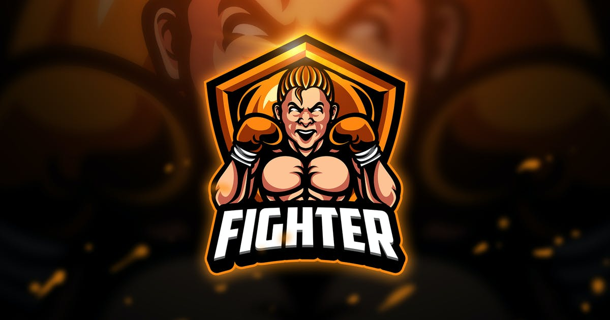 Download Fighter - Mascot & Esport Logo by aqrstudio