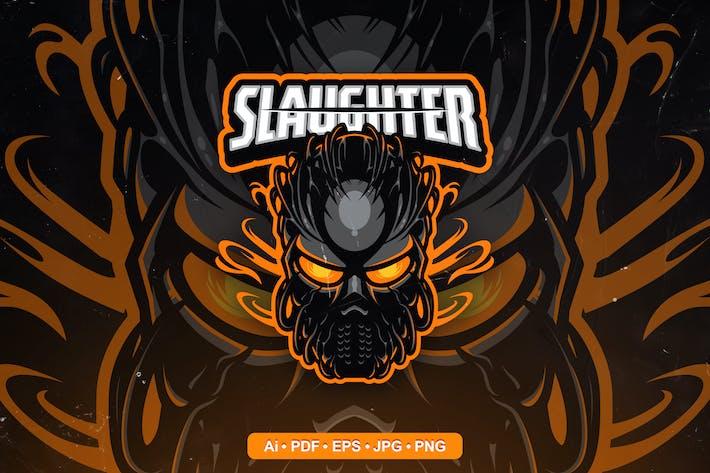 Slaughter Mascot Logo