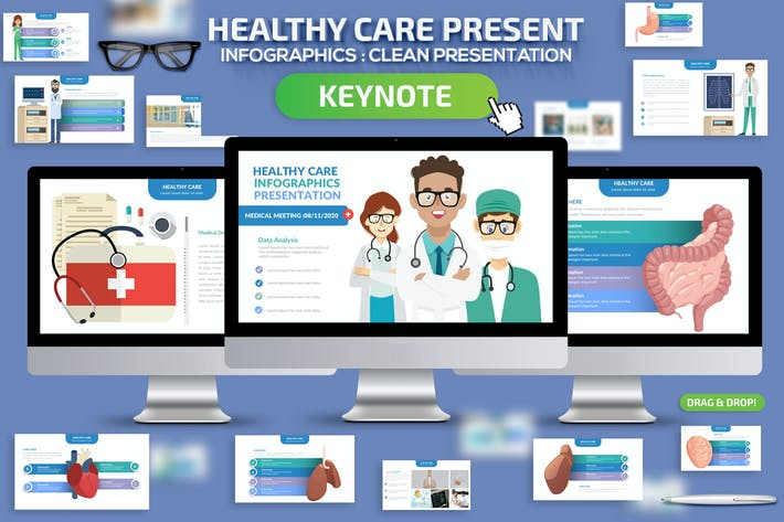 Thumbnail for Healthy Infographics Keynote