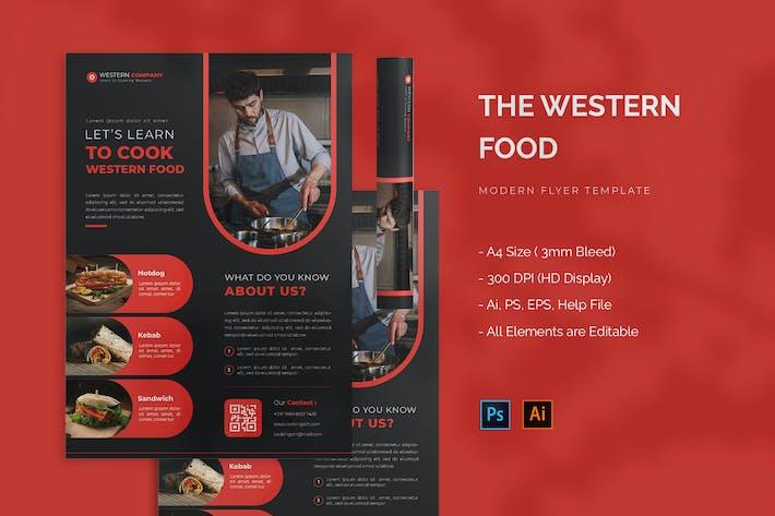 Western Food - Flyer