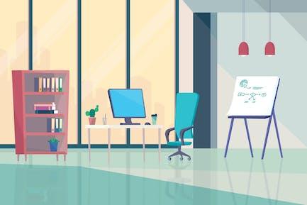 Interior de la oficina - Fondo de ilustración