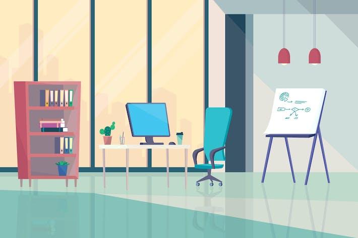 Thumbnail for Büro innen - Illustration Hintergrund