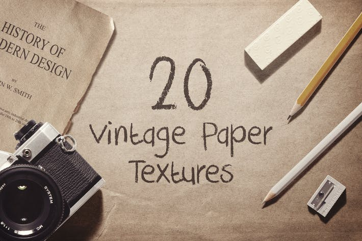 Cover Image For 20 Vintage Paper Textures / Backgrounds