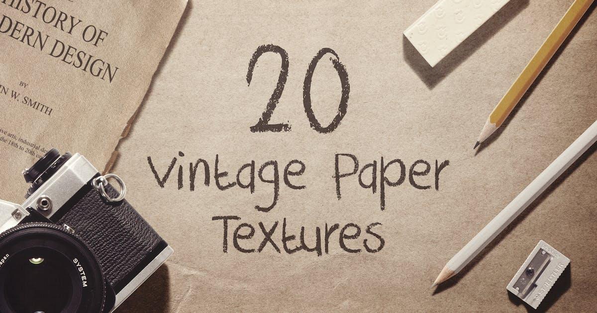 Download 20 Vintage Paper Textures / Backgrounds by vasaki