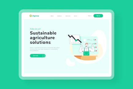 Sustainability Market Research Landing page