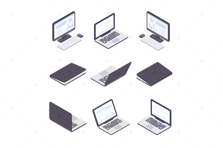 Thumbnail for Computer technology - set of isometric objects