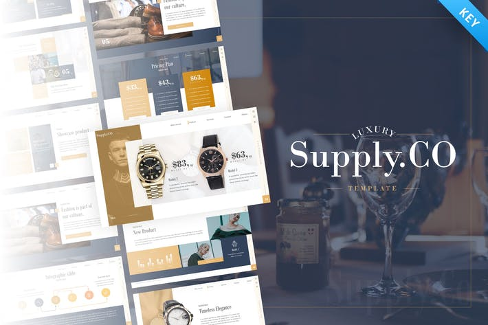 Thumbnail for Supply.Co – Luxury Marketplace Keynote Template